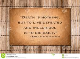 napoleon history quote in french death is nothing napoleon bonaparte quote stock image image