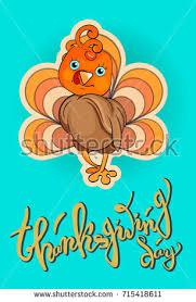 thanksgiving vector postcard postera cake stock vector