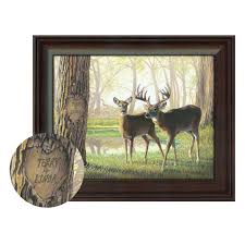 personalized whitetail deer print spring