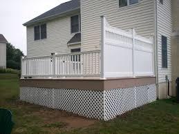 your deck options options on deck railing lighting steps