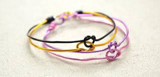 make knot bracelet images Pictured tutorial on making love knot bangle bracelets with jpg