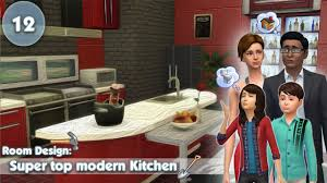Sims Kitchen Ideas The Sims 4 Room Design Super Top Modern Kitchen Youtube