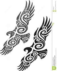 maori tattoo pattern eagle stock vector image 35385515