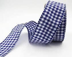 blue gingham ribbon blue gingham ribbon etsy