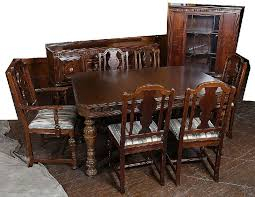 walnut dining room chairs 9 piece jacobean walnut dining room set