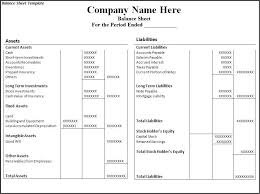 Consolidated Balance Sheet Template Balance Sheet Sle Balance Sheets And Exles Income