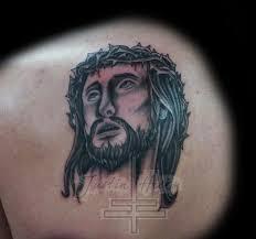 lucky bamboo tattoos blackwork black and grey jesus