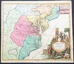 A Map Of Virginia by 1715 Homann Antique Map Of Virginia Chesapeake U0026 Ne United States