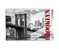 objet deco retro boite box de rangement pliable déco new york city pont de brooklyn