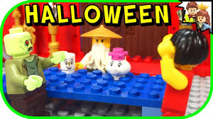 lego ninjago halloween costume zombie attacks nya ninjago halloween special lego story youtube