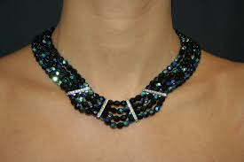 Making Swarovski Jewelry - diy necklace with swarovski strass bars and fire polished beads