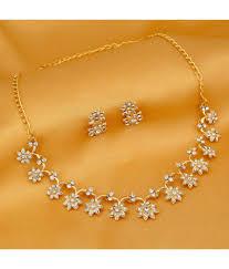 gold sets images sukkhi stylish gold plated necklace sets buy sukkhi stylish gold