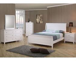White Wooden Bedroom Furniture Coaster Furniture Bedroom Set In White Selena Co400231set