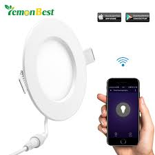 9w Led Panel Light Wireless Wifi Controller Led Recessed Lighting