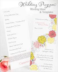 50th wedding anniversary program templates 8 wedding party program templates psd vector eps ai