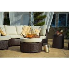 Wicker Patio Table Set Corvus 8 Brown Wicker Patio Furniture Set Free