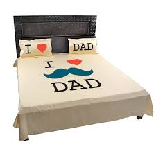 Personalised Duvet Covers I Love Dad Bed Sheet For Father With Pillow Covers Giftsmate