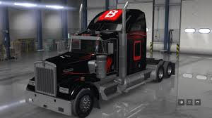 w900 bitdefender paint job for scs kenworth w900 american truck