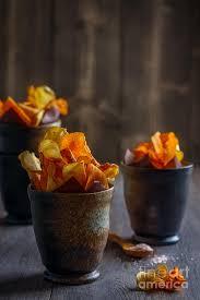 Roots Vegetable Crisps - root vegetable crisps photograph by amanda elwell