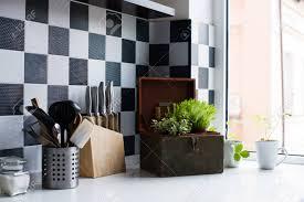 Decor And Floor Kitchen Utensils Decor And Kitchenware In The Modern Kitchen
