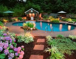 Pool Houses With Bathrooms Backyard Pool Landscaping Ideas Homesfeed