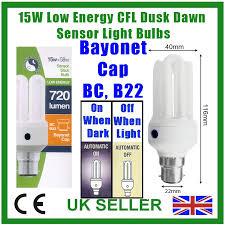 light bulbs with sensors low energy 15w low energy cfl dusk dawn sensor security light bulb bc b22