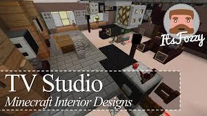 Minecraft Interior Design Minecraft Interior Design Tv Studio Youtube