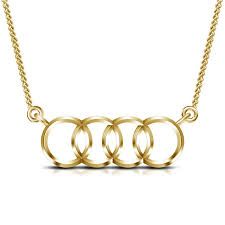 gold new necklace images Buy 14k gold plated 925 silver new stylish audi design pendant jpg