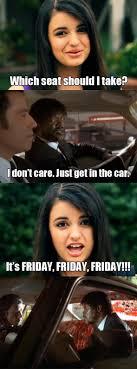 Rebecca Black Friday Meme - rebecca black vs pulp fiction by malevolentdeath on deviantart