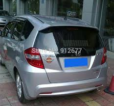 free shipping rear wing car spoilers for honda fit jazz 2009 2013