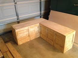 Corner Storage Bench Built In Corner Bench With Storage Home Design Ideas
