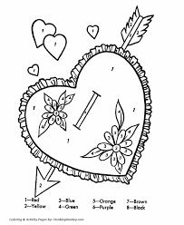 valentine u0027s cards coloring pages color number valentine heart