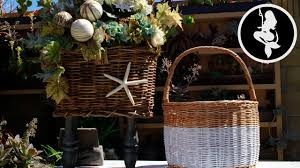 how to paint and decorate wicker baskets easy basket deco diy