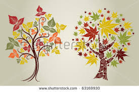 color designs two vector designs grunge color trees stock vector 63169930