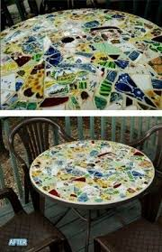 Mosaic Patio Table Top by Glass Patio Tables Foter