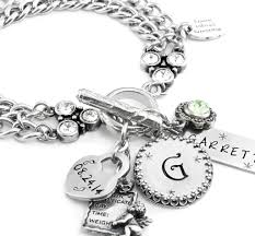 mothers day birthstone jewelry personalized charm bracelet with birthstones