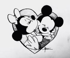 artistiq art mickey minnie drawing webstagram disney