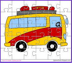 free printable jigsaw puzzle game bus jigsaw puzzle