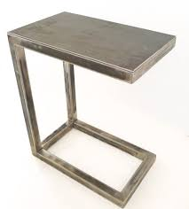 Tray Table Ikea Table Portside C Shaped Side Weathered Gray West Elm For Stylish