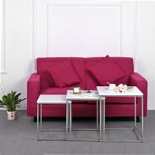 divano ottomano 46 47 ikayaa 3pcs metallo tavolini impilabili frame set