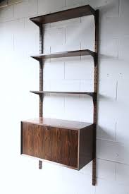 bureau chrome 1960s rosewood shelving system by poul cadovius and