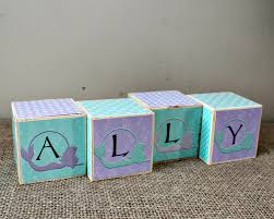 personalised baby name cube baby shower gift name letter blocks
