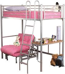 High Sleeper With Futon Metal High Sleeper Bed Chair Bed Frame Sweet Dreams Opal