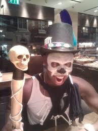 hire halloween costumes voodoo man costume james bond voodoo skeleton man mad world