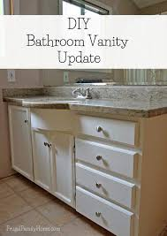 Update Bathroom Vanity Diy Bathroom Vanity Update Continued Frugal Family Home