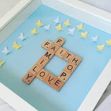 New Home Gift Ideas by Faith Hope Love Family Scrabble Art Frame New Home Gift