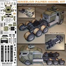 grizzlor truck papercraft model spyker enterprise