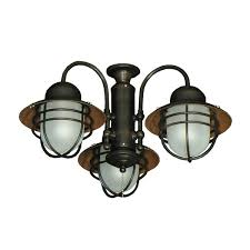 Universal Light Kits For Ceiling Fans 362 Nautical Styled Outdoor Ceiling Fan Light Kit 3 Finish In