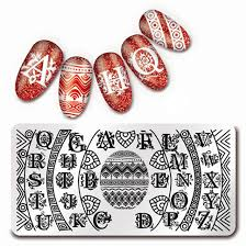 buchstaben design 12 6 cm nail stempel vorlage welle linie buchstaben design
