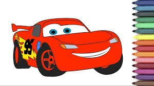 lightning mcqueen from cars 3 coloring page for kids youtube